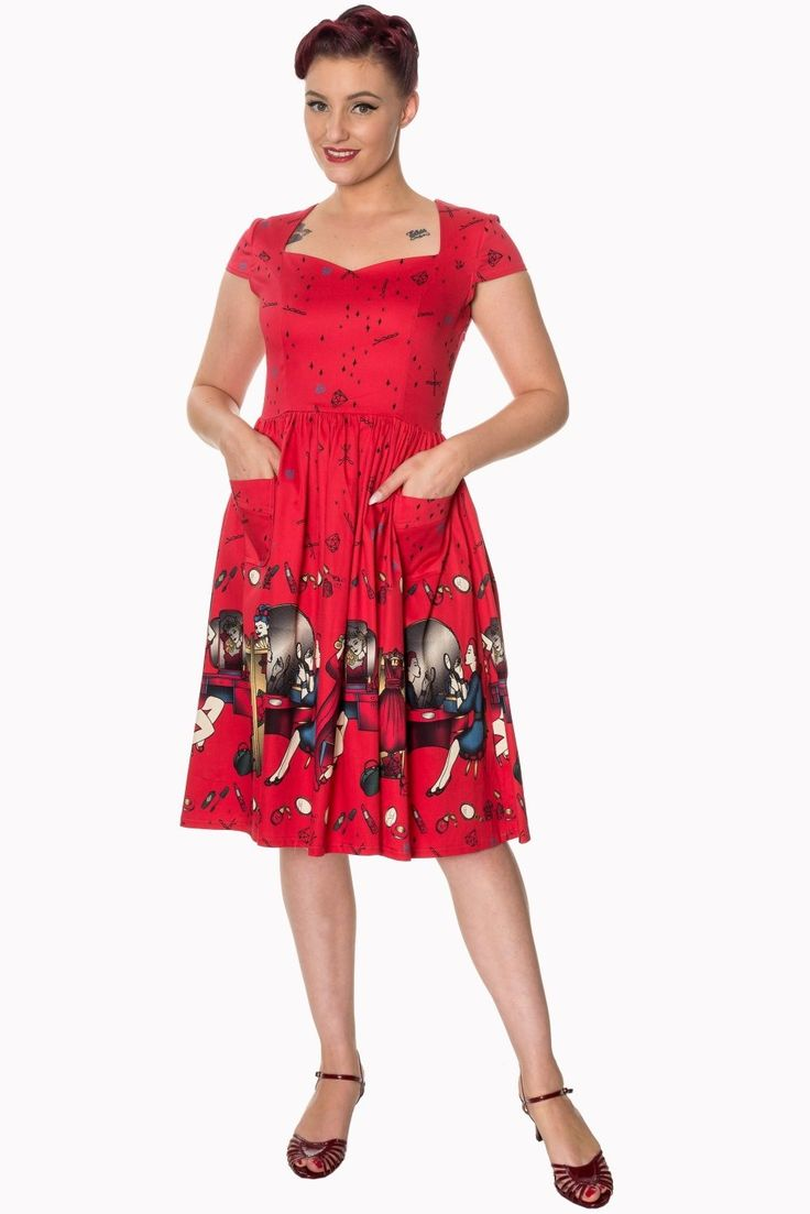 "Nice Great Dancing Days Vintage ""Vanity"" 1950s Midi Swing Red Pin Up Retro Dress UK 8-22 2018 Check more at http://mydress.gq/fashion/great-dancing-days-vintage-vanity-1950s-midi-swing-red-pin-up-retro-dress-uk-8-22-2018/"
