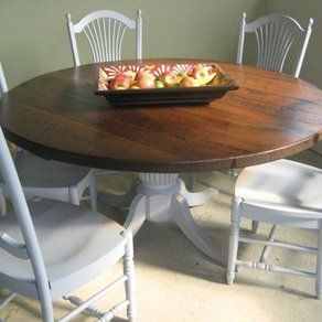 Refinishing kitchen table idea