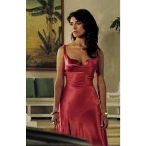 caterina murino peach pink evening dress in movie casino