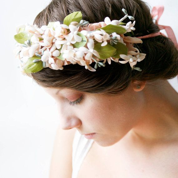 flower headpiece with a long coat for winter!