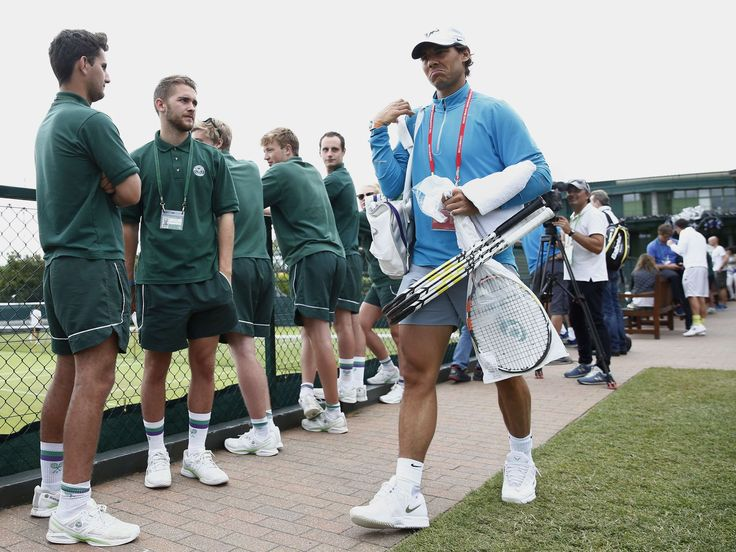 Spain's Rafael Nadal arrives at the practice courts at The All England Tennis Club in Wimbledon.  Justin Tallis, AFP/Getty Images