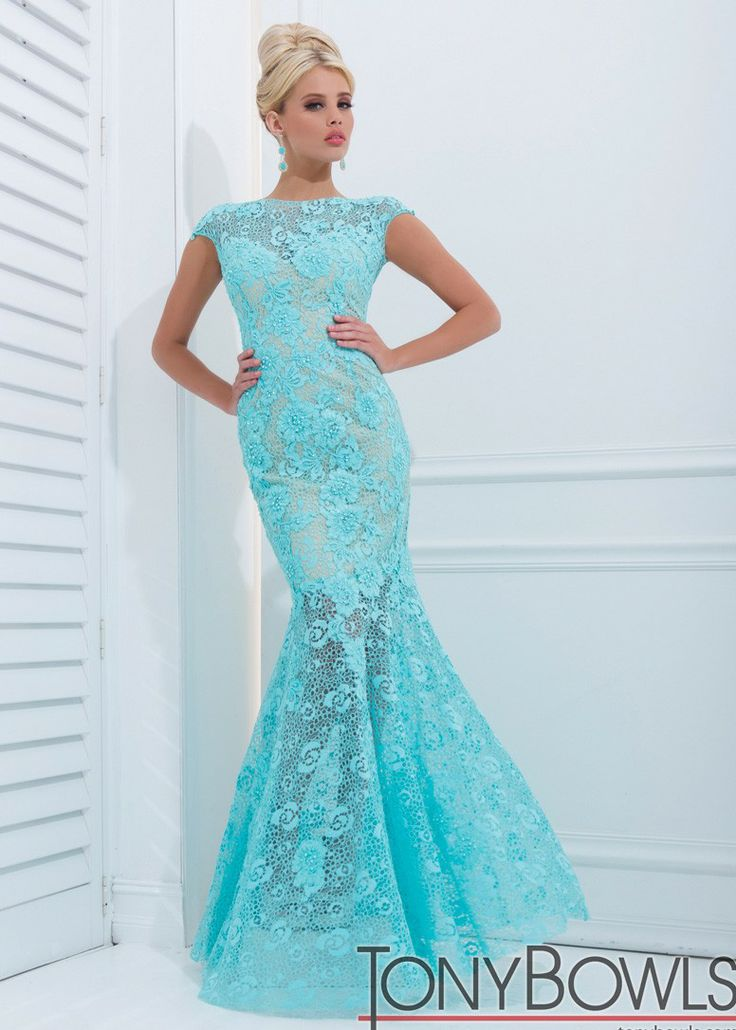 Tony Bowls Evenings TBE11405 Lace Mermaid Gown