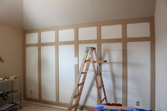 How To: The Paneled Wall | Decorchick! Changing her world, one project at a time
