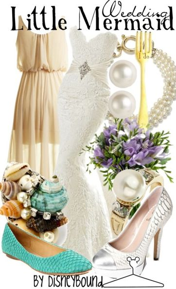 Disneybound: Little Mermaid Wedding. Now all I need is my own Prince Eric...