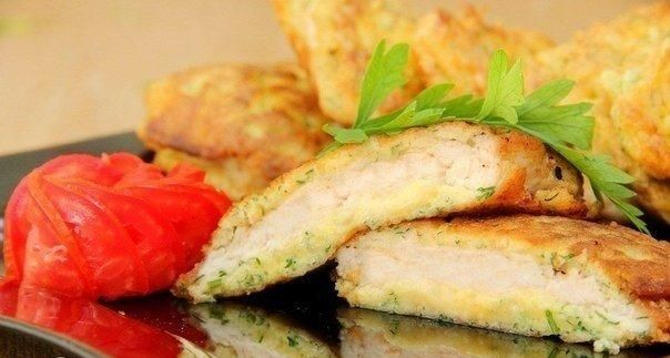 Chicken chops with cheese #recipes #chiken #food #cooking #cheese #chops