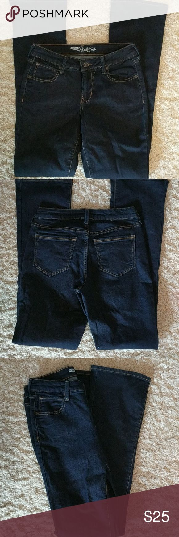 Rockstar Jeans/Old Navy New jeans. Never worn. Size is 4. Inseam is 31 1/2. Very dark color. Jeans Boot Cut
