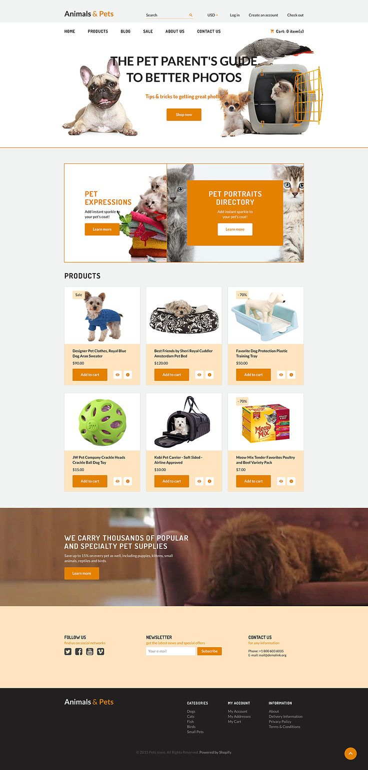 Pet Store Shopify Theme