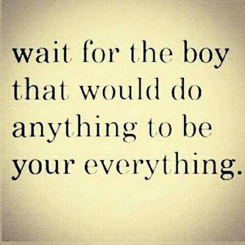 Wait for the boy