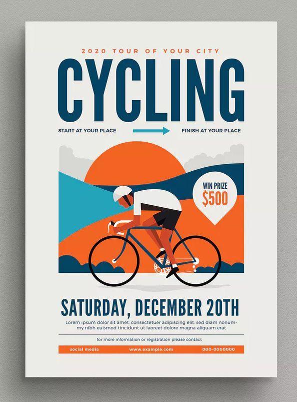 Radfahren ereignis Flyer Vorlage AI, PSD –  Yunnica Poster – #AI #Ereignis #Flyer #PSD #Radfahren