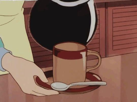 Aesthetic Gif Anime Coffee Anime Background 90s Anime