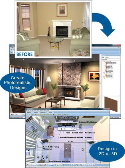 With Virtual Architect S Software You Can Upload Photos Visualize Interior Design Projects And Design In See More Home Remodeling Software Hgtv
