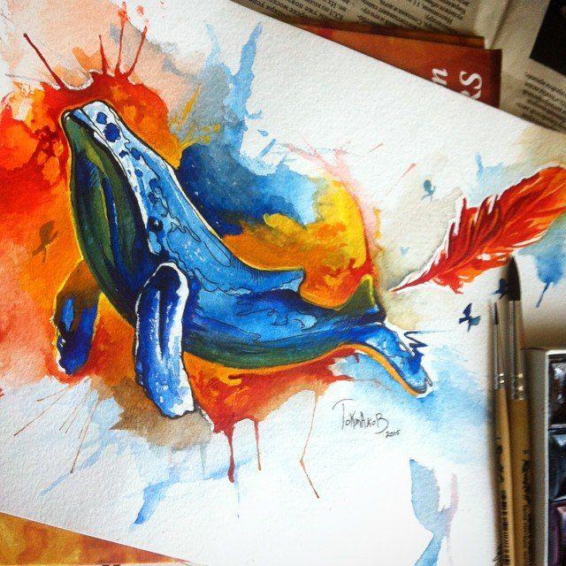 #watercolor #watercolortattoo #watercolorsketch watercolor tattoo sketch whale