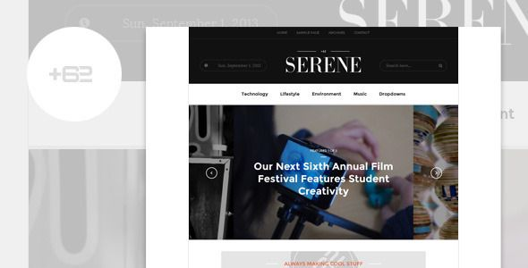 serene wordpress theme