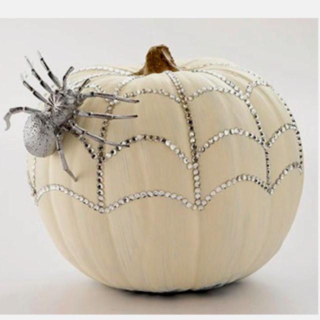 Classy Halloween Decorations: Bejeweled. Elegant Halloween Idea.