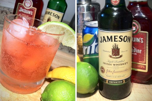 The Irish Redhead - 3 oz Jameson Irish Whiskey  1 oz Grenadine & 6 oz sprite