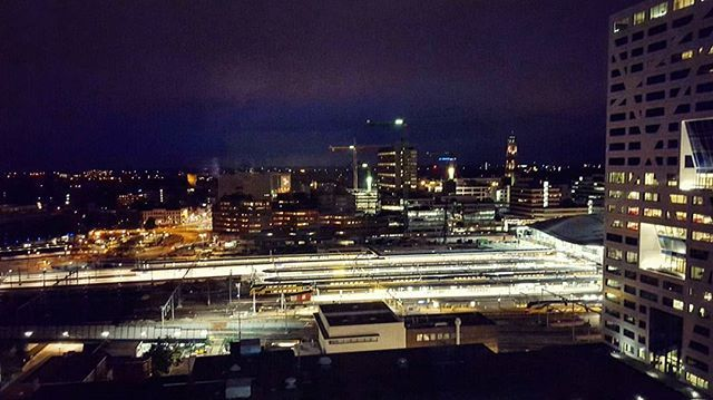 View of the Utrecht Centraal station from 19th floor @nhhotels!!! A wonderful city!! Going back home today ✈