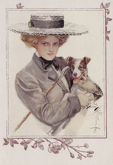 Isn't He Sweet! Painting by Harrison Fisher | Vintage art ...