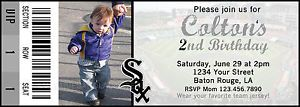 White Sox Baseball Ticket Birthday Invitation Digital File 5x7 Any Occasion MLB | eBay