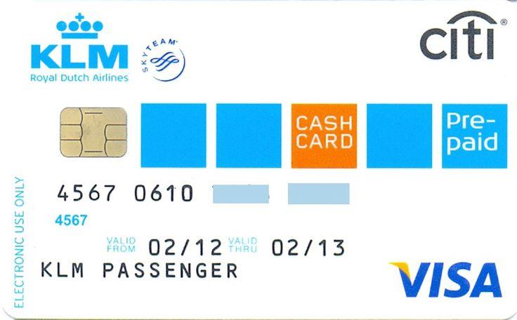 KLM-VISA Prepaid (Citibank, United Kingdom) Col:GB-VI-0192