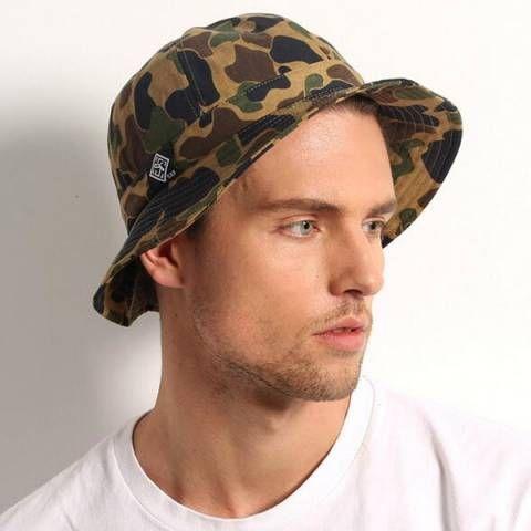 Casual camo bucket hat for men UV outdoor sun hats