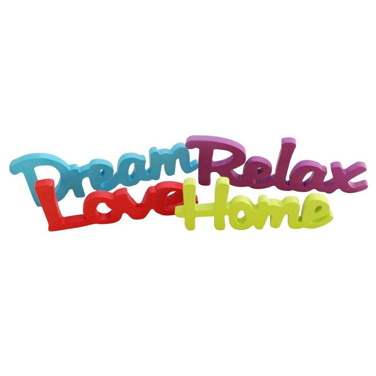 Neon Wooden Words Relax Dream Home Love Homeware Mood Word Decoration