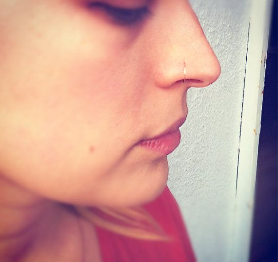thin ROSE GOLD nose ring hoop non tarnish 14k rose by koodelah. NUMBER 1 on my wish list!