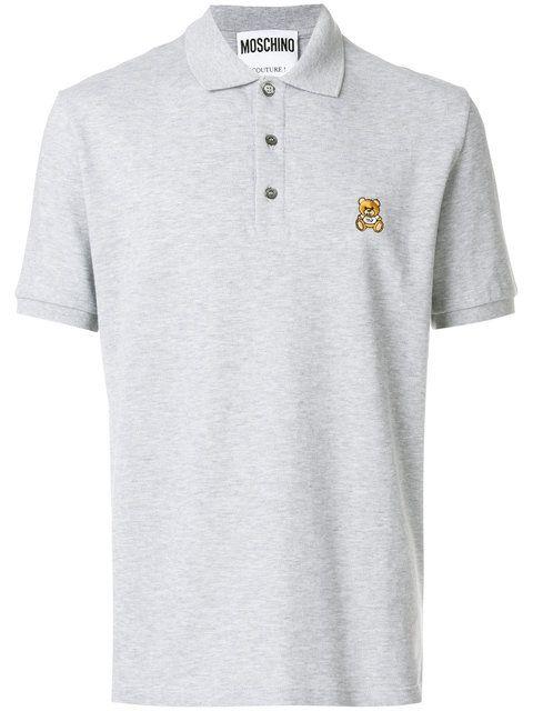 77115d1c MOSCHINO embroidered teddy polo shirt. #moschino #cloth # | Moschino ...