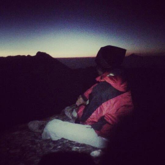Top of ciremai mountain