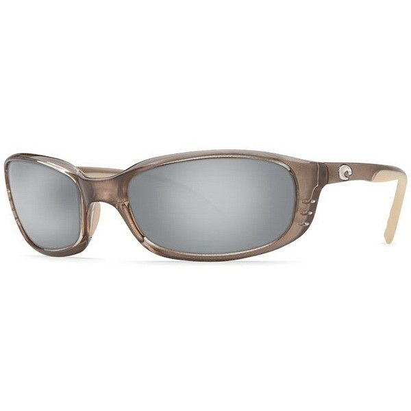 Costa Del Mar Brine Polarized BR 71 OSCP Sunglasses ($175) ❤ liked on Polyvore featuring accessories, eyewear, sunglasses, crystal bronze, costa glasses, lens glasses, costa eyewear and costa sunglasses
