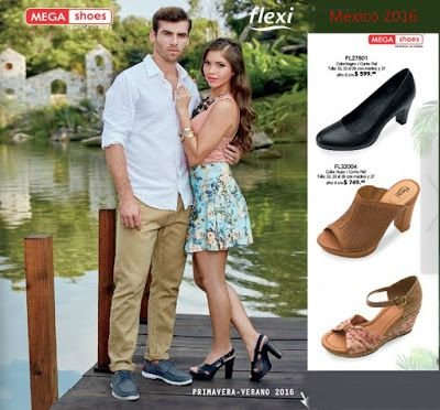 Nuevo Catalogo Mega Shoes flexi pv 2016. Calzado de moda mexicano. Sandalias, plataformas, zapatillas