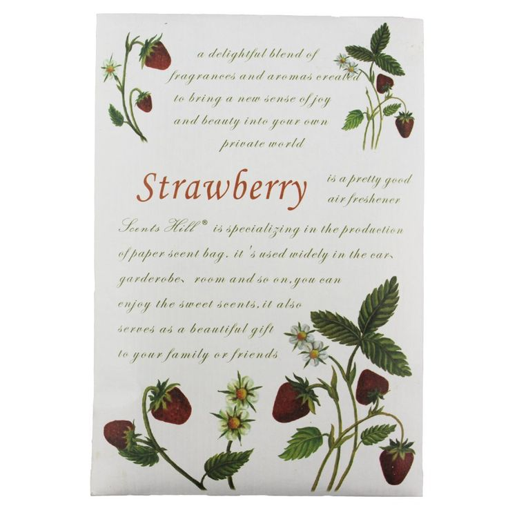 Feel Fragrance Scented Sachet Bags for Closets and Drawer, Lot of 4 (Strawberrys) ** SPECIAL OFFER AHEAD! : Home Fragrance