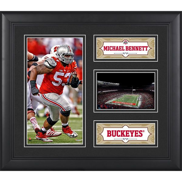Michael Bennett Ohio State Buckeyes Fanatics Authentic Framed 15'' x 17'' Collage - $49.99