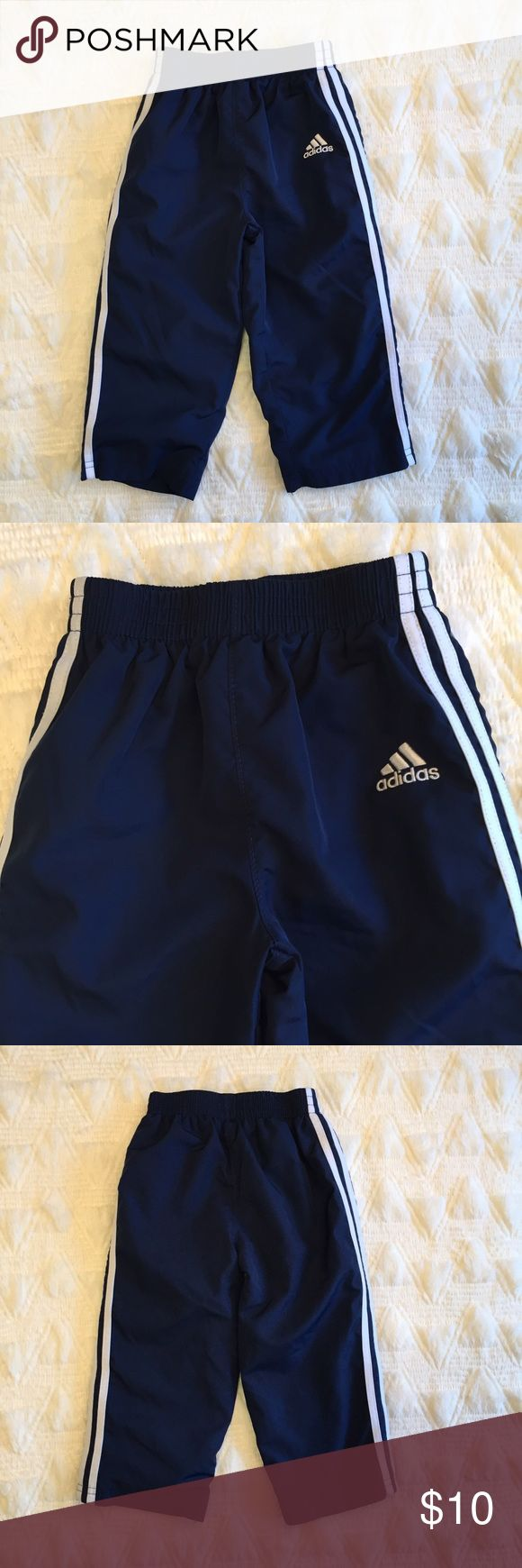 Adidas Baby Boy Pants Size 18M Brand: Adidas  Size: 18M  Description: Boys Track Windbreaker Pants.  Condition: Excellent pre-loved  Fabric: 100% Polyester  Item #SB640 Adidas Bottoms Casual