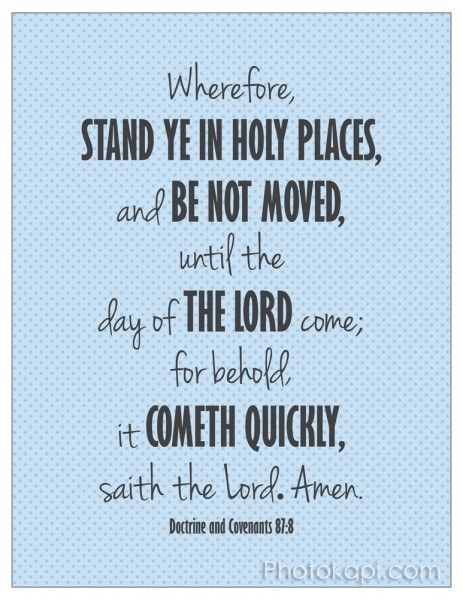 Stand Ye in Holy Places in BlueCamps Ideas, Church Stuff, Girls Camps, Stands Ye, 2013 Theme, Yw Camps, Young Women, Holy Places, Prints