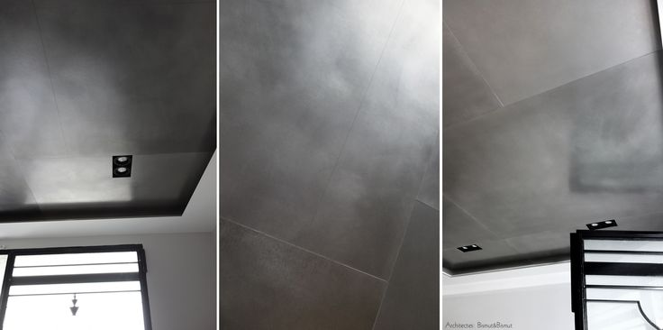 Enduits métalliques: plafond en étain. Architectes Bismut&Bismut. Réalisation l'Atelier du Mur.
