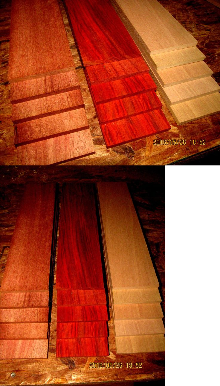 Wood swivel desk chair laquered finish warms amp padded seat ebay - Woodworking Lumber 84011 15 Piece Multipak Thin Exotic Aniegre Mahogany Padauk 12 X
