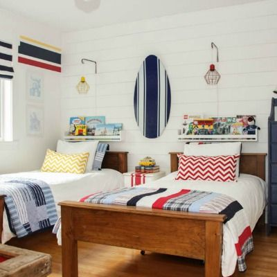 Boys' Bedroom Makeover Reveal