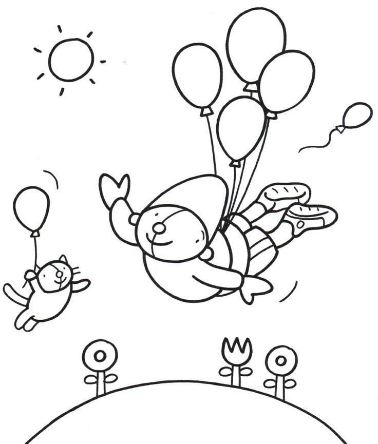 Kleurplaat Pompom feest