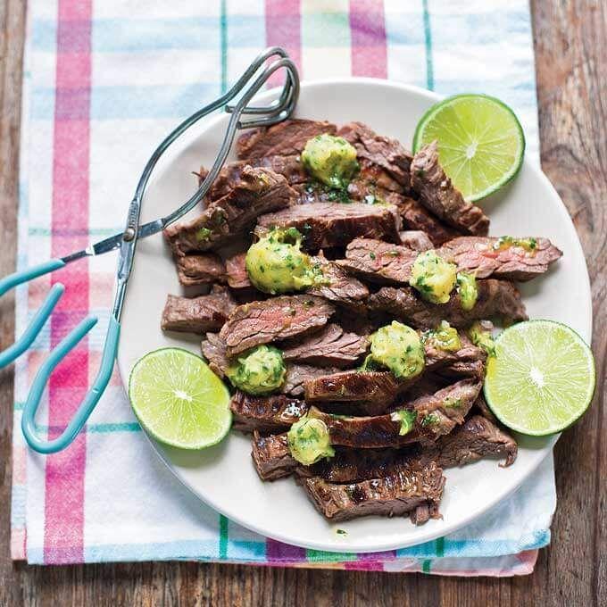 marinated skirt steak with cilantro lime ghee marinated skirt steak