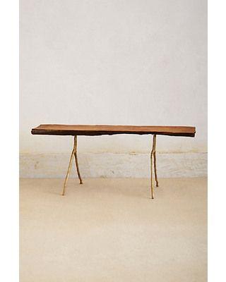 Sawlog table, Anthropologie
