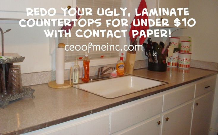 Redo Your Ugly Laminate Countertops For Under 10 Dollars With Contact Paper Perfect If You
