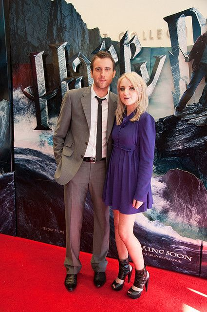 Matthew Lewis (Neville Longbottom) and Evanna Lynch (Luna Lovegood) at the Harry Potter & The Half Blood Prince Dublin Premiere by Kris Van ...