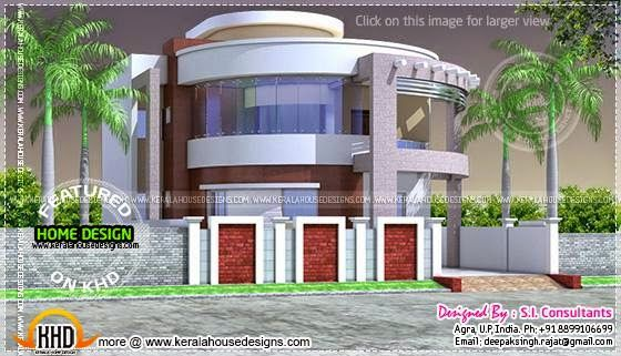 Round Style Contemporary House Design Kerala House Design House Design Contemporary House Design Modern house plan with round design element