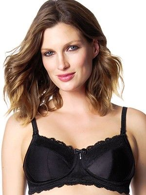 HOTmilk Eclipse Nursing Bra from breastmates.co.nz -- This simply stunning style in ravishing jet black may eclipse all others in your maternity lingerie drawer with its superior support and comfort.