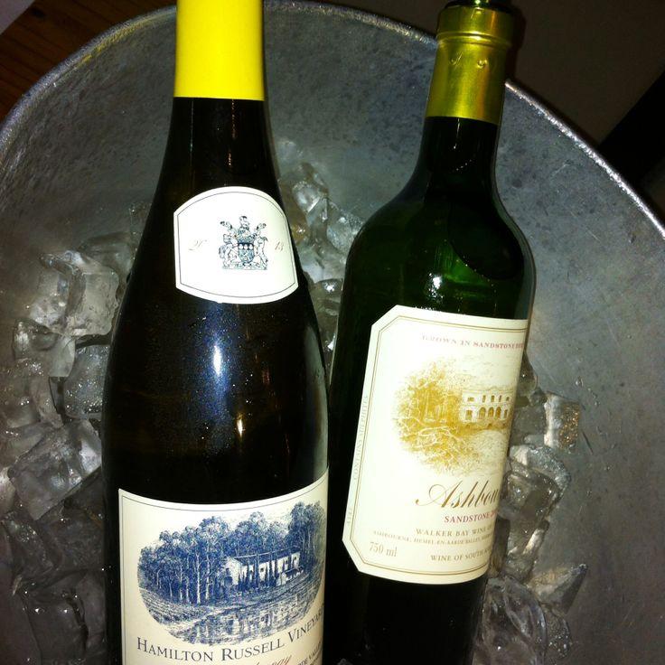 Hamilton Russell Vineyards Chardonnay chilling next to Ashbourne