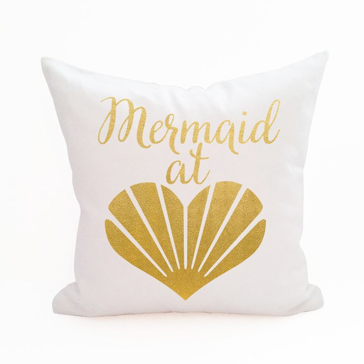 Mermaid at Heart Pillow Cover