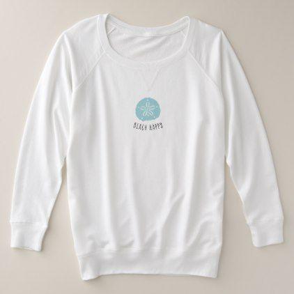 Trendy Aqua Sand Dollar Beach Happy shirt - diy cyo personalize design idea new special custom