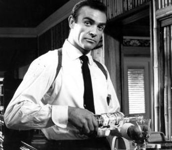 Bond ... James Bond.  Thank you for teaching us that a martini should be shaken, not stirred.