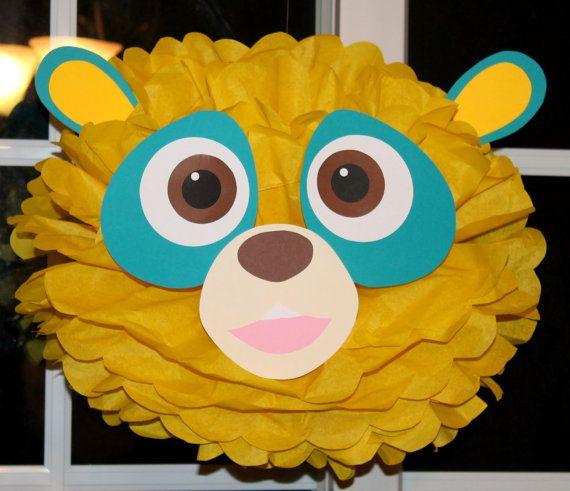 Agent Oso tissue paper pom pom kit party decoration
