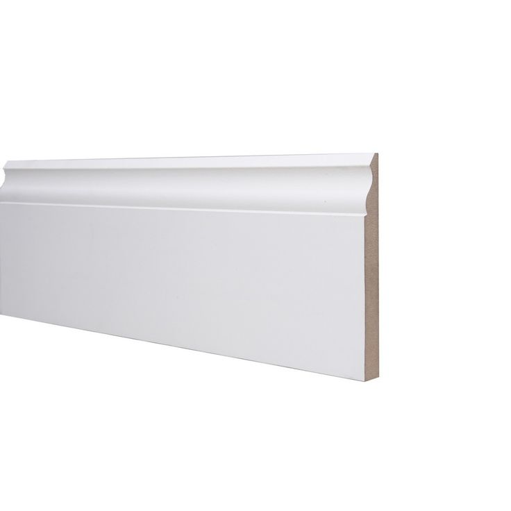 Ogee Skirting Board MDF White Primed 18mm x 168mm x 4.4m £12.30 Our MDF ogee skirting board is supplied pre-primed white & ready to be installed. MDF skirting board is resistant to twisting, warping and splitting and is free of natural defects. Skirting board hides un-tidy surfaces between walls and floors, at the sam